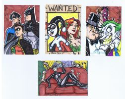 Comics for Cures sketchcards by Gigatoast