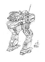 Walmart Doodle: Bigfoot Zero BattleMech by prdarkfox