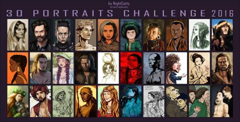 30 Portraits Challenge by NightCatty