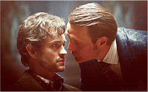 Hannigram: 'To Kiss or Not to Kiss...' by evansblack