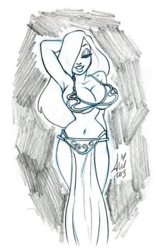 Jessica Rabbit Slave Princess Leia by mainasha