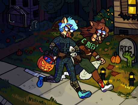 Trick or Treat! by Dogquest