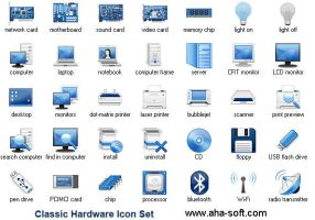 Classic Hardware Icon Set by Ikont