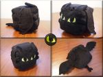 Toothless cube- new fleece! by WhimsicalSquidCo
