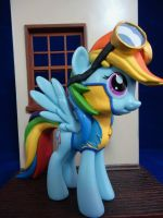 Custom Wonderbolts cadet Rainbow Dash (Funko Vinyl by hunterknightcustoms