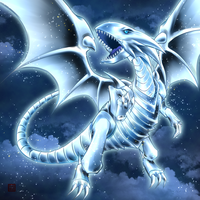 Blue-Eyes White gragon by flamemirenchers