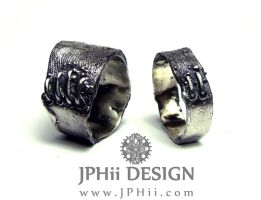 Frankenstein Flesh Rings by jphiijewelry