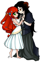 Persephone and Hades by xAmulet
