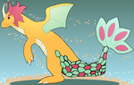 Dragonite-Milotic by figwine