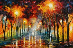 Approaching by Leonid Afremov by Leonidafremov