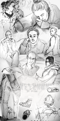 Subway and Classroom Sketches by SteamBerry