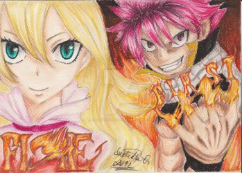 'First' in the Fiore: First guild master and Natsu by NeoAngeliqueAbyss