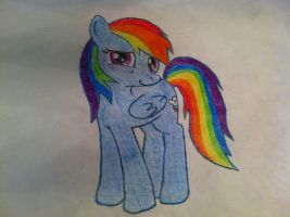 Rainbow Dash Drawing: Paper and Pencil by TheAgent777