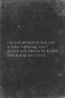 Not Afraid, Billy The Kid Quote Variant III by romancer