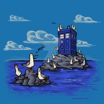 The Seagulls Have the Phonebox by khallion
