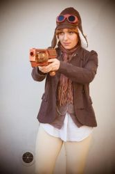 Steampunk costume - Aviator by haricovert-cosplay