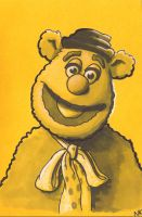 Warm Up Sketch: Fozzie Bear by N8KELLY