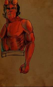Great big red ape (WIP by salthepal
