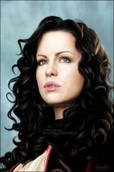 'Kate Beckinsale' Painting by DARK0NA