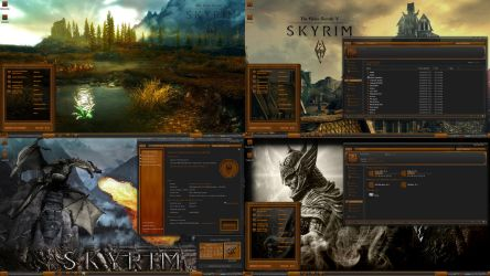 Skyrim Elder Scrolls Wood Theme suite by R0ck-n-R0lla1