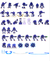 Custom Mecha Sonic sprites by dinojack9000