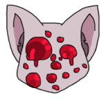 Bleeding Tooth Cat Headshot Pixel by Etrenelle