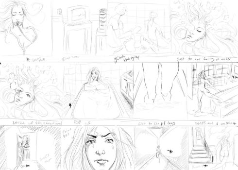 Quick storyboard for a short animation by Lady-Alessandro