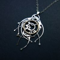 Beta (watch parts necklace) by AMechanicalMind