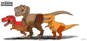 The Good Dinosaur: Ramsey, Butch, and Nash by TrefRex