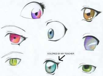 Color practice +Eyes+ by multypersonality