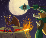 Showdown with Spyro the Dragon by S-K-Sama