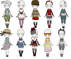 Outfit adopts - OPEN by Kitt3nLover
