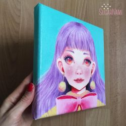 Dreamy Girl #2 and my hand by Sugar-Nami