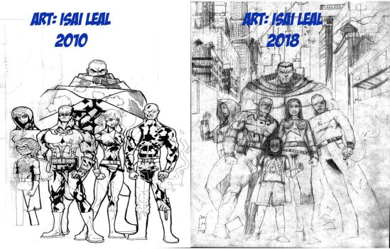 Antes Y Despues 3/ league of superheroes by maul10