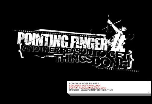 Pointing Finger t-shirt by screaminsilence