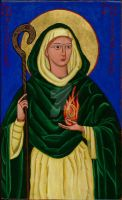 St. Brigid Icon by angelboi-red