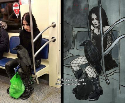 goth subway by NanFe