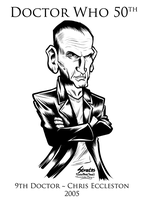 Doctor Who 9th Doctor Christopher Eccleston by SouthParkTaoist