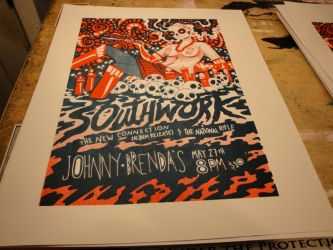 Southwork Screen Print by liliesformary
