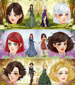 A Song Of Ice And Fire Queens And Princesses by alefolla