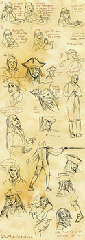 PotC doodles by LilayM