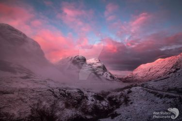 Candy floss sunrise at Glencoe by AngiWallace