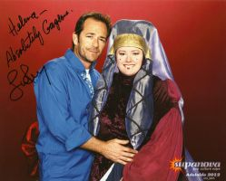Me with Luke Perry by gurihere