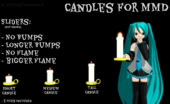 MMD Candle Package by PoTatterTot