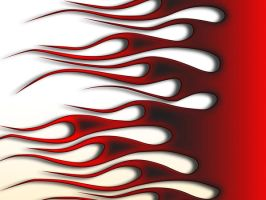 Flames - Red on White fade by jbensch