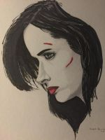 Jessica Jones Portrait by amonkeyonacid