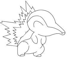 Color in- Cyndaquil by NewDeadmanInc
