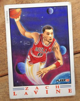 Zach LaVine Fleer Pro-Visions Retro Card Remix by skythlee