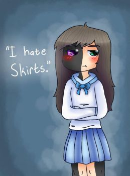 I hate skirts. by TheSilentSnowflake