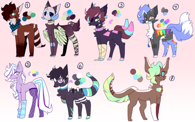 ADOPTABLES | 3 / 7 by MotherMinix